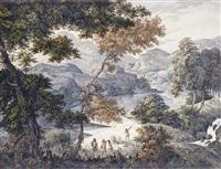 river landscape with indians by manuel de araújo pôrto alegre