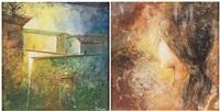 paesaggio (+ figura; 2 works) by alvaro peppoloni