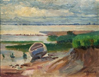 the elbe near blankense by hugo volkwarth