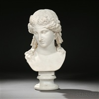 bust of a greek god, possibly dionysus by continental school (19)