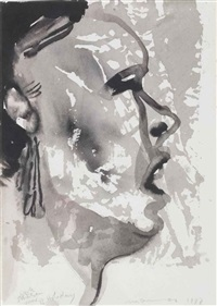 study for billie holiday by marlene dumas