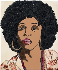 six foota (portrait series) by mickalene thomas
