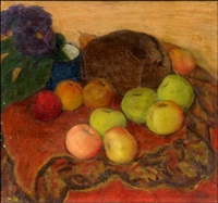 still life with apples by anna petrovna ostroumova-lebedeva
