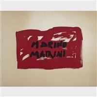 chevaux et chevaliers (8 works) by marino marini