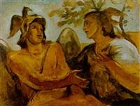 mercurio e minerva by scipione (gino bonichi)