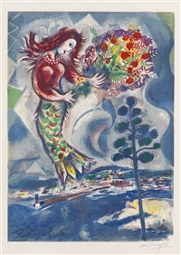 sirene auf der pinie by marc chagall