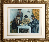 les joueurs des cartes (the card players) by paul cézanne