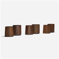 wastepaper baskets, set of six by jens risom