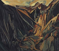 david bomberg, valley of la hermida, picos by michael ashcroft
