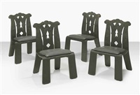 chippendale chairs, designed (set of 4) by robert venturi