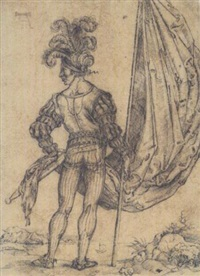 a standard bearer seen from behind by hans (suess von) kulmbach