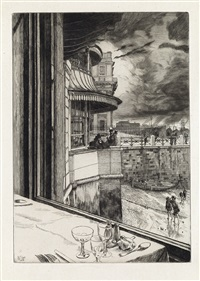 trafalgar tavern, greenwich by james jacques joseph tissot
