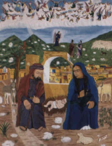 la naissance de jésus by philomé obin