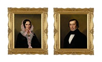 portrait of a gentleman (+ portrait of a lady; pair) by anglo-american school (19)