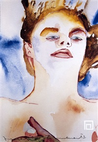 distance/ausschnitt (plakat) by francesco clemente