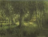 cows amongst trees by henri van daalhoff