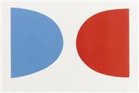 blue with orange by ellsworth kelly