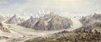 the baltoro glacier, karakoram by henry haversham godwin-austen
