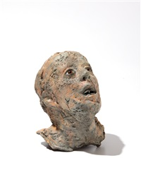 untitled (head with glass eyes and tin teeth) by kiki smith