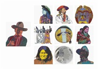 cowboys and indians (set of 10) by andy warhol