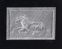 zebra by victor vasarely