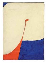no. 1 in blue and orange (study) by ron gorchov