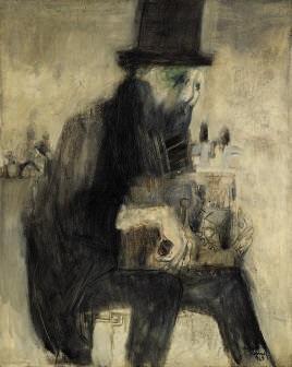 uomo con organetto by fernando eandi