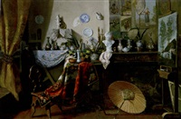 the artist's studio by léon g. lebon
