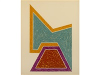 wolfeboro; sunapee; sanbornville (from eccentric polygons) by frank stella