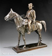 the emperor napoleon on horseback (study for a monument?) by louis marie moris