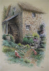 the mill cottage (+ 2 others; 3 works) by colin newman