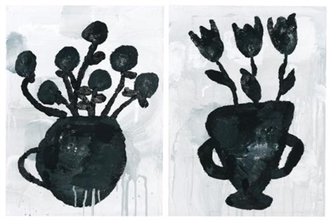 flowers (in 2 parts) by donald baechler