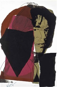 mick jagger: one plate by andy warhol