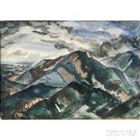 mountain landscape by harry bertoia