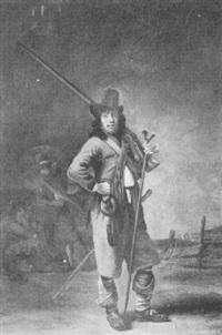 a soldier in a landscape by simon kick