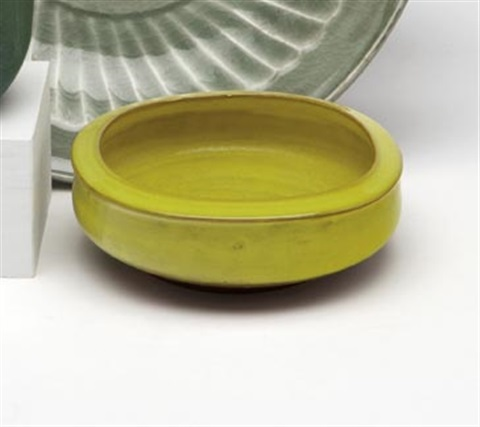 yellow glazed porcelain bowl by laura andreson