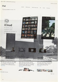 untitled (icloud) by wade guyton