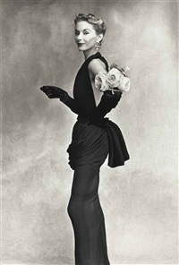 woman with roses on her arm (lisa fonssagrives - penn), 1950 by irving penn