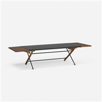 rare drop-leaf coffee table by greta magnusson grossman