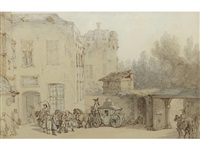 the stop at the inn, cologne by thomas rowlandson