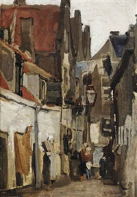straatje te rotterdam: a street in rotterdam by george hendrik breitner