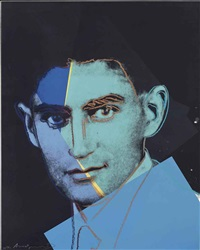 franz kafka (from ten portraits of jews of the twentieth century) by andy warhol