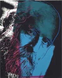 martin buber (from ten portraits of jews of the twentieth century) by andy warhol