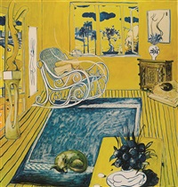 the cat by brett whiteley