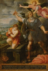 the sacrifice of isaac by jacob de backer
