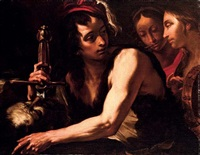 david with the head of goliath by gioacchino assereto