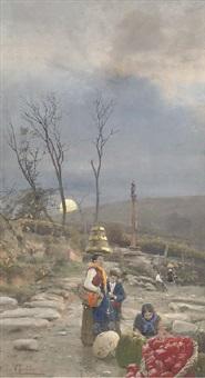 leaving the market at dusk by joseph gasteton