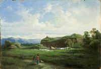 paesaggio con figurette by giuseppe camino