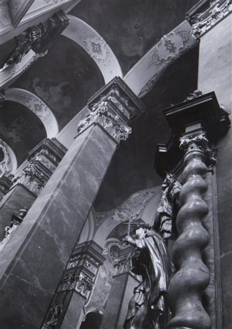 51 detail of gothic church of st. james in prague i by jaromir funke