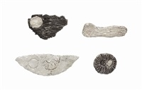 group of four brooches by kiki smith